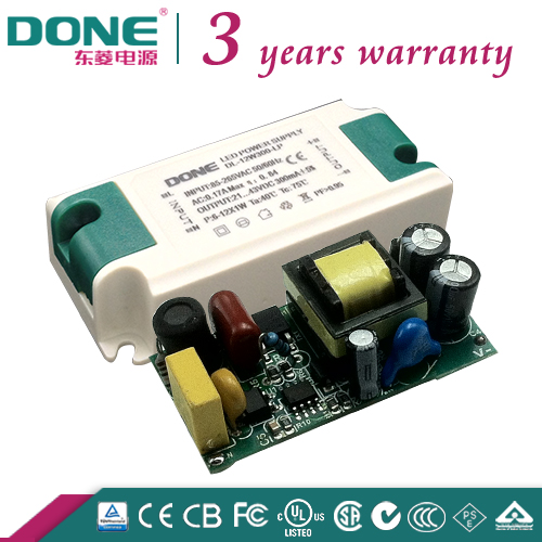 C-tick,CE,CB,LVD 110V 220V 3 Year Warranty 12W 300ma High PF Indoor Ceiling Light LED driver