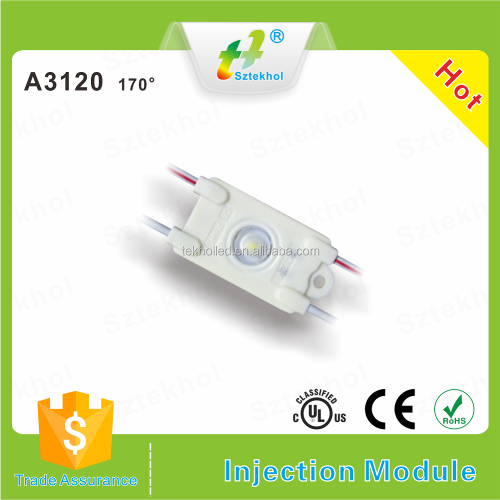 High lumin DC12V tekhol ABS injection smd led module round 160 degree lens