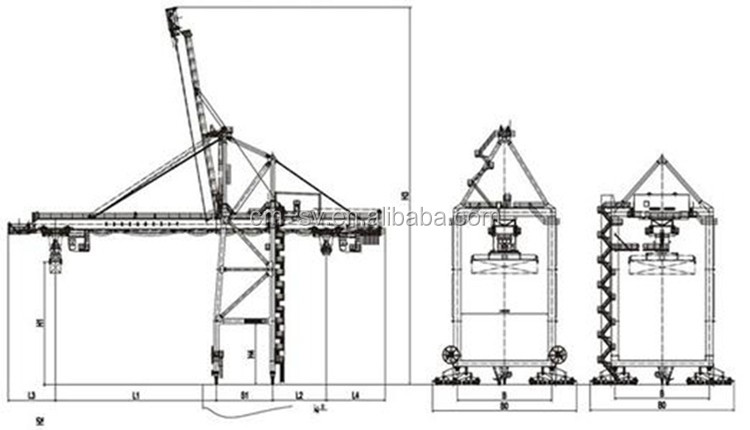 China manufacturer high quality ship to shore crane price