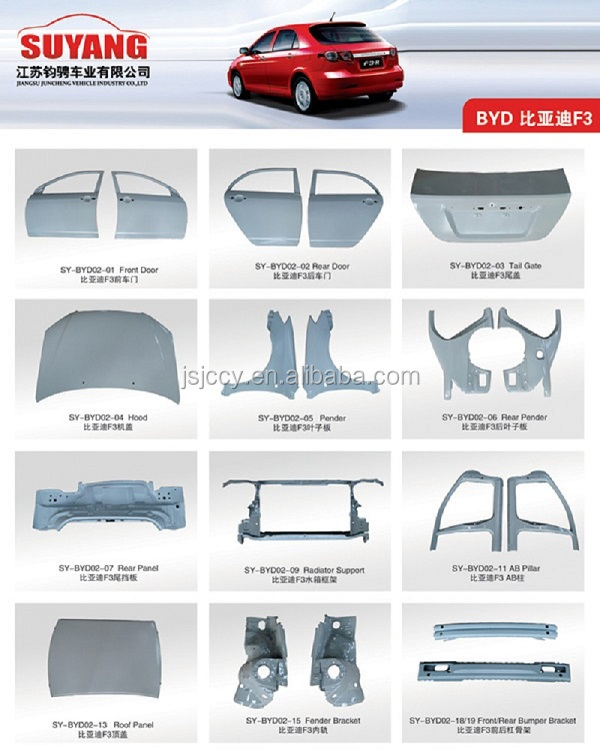 China Supplier Auto Rear Bumper Bracket For Byd F0