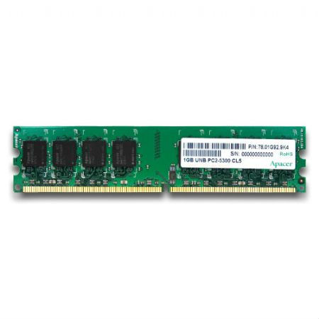 Apacer Notebook Memory Ddr3-1333 2gb Sod Pc3-10600 Cl9