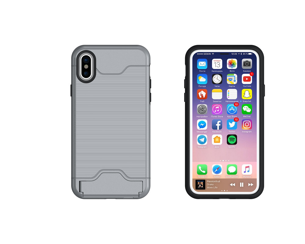 Newest Special Card Holder Design Anti-drop Pefect Fitted Useful Phone Case for Apple iPhone X