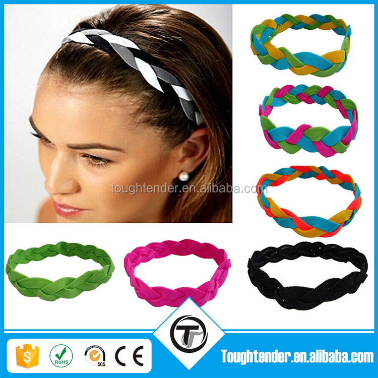 Customized Rope Antiskid No Slip Grip Hairband Women's Mini Headbands