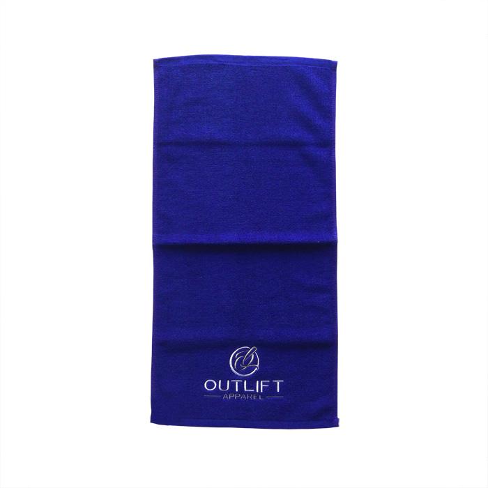 כותנה טרי יד כושר מגבת מותאם אישית רקמת לוגו לשטוף בד מוסמך על ידי OEKO-TEX