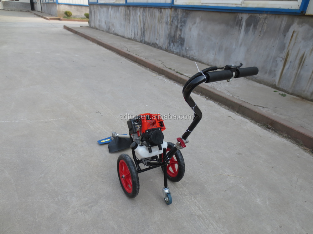 4 stroke gasoline engine wheeled brush cutter