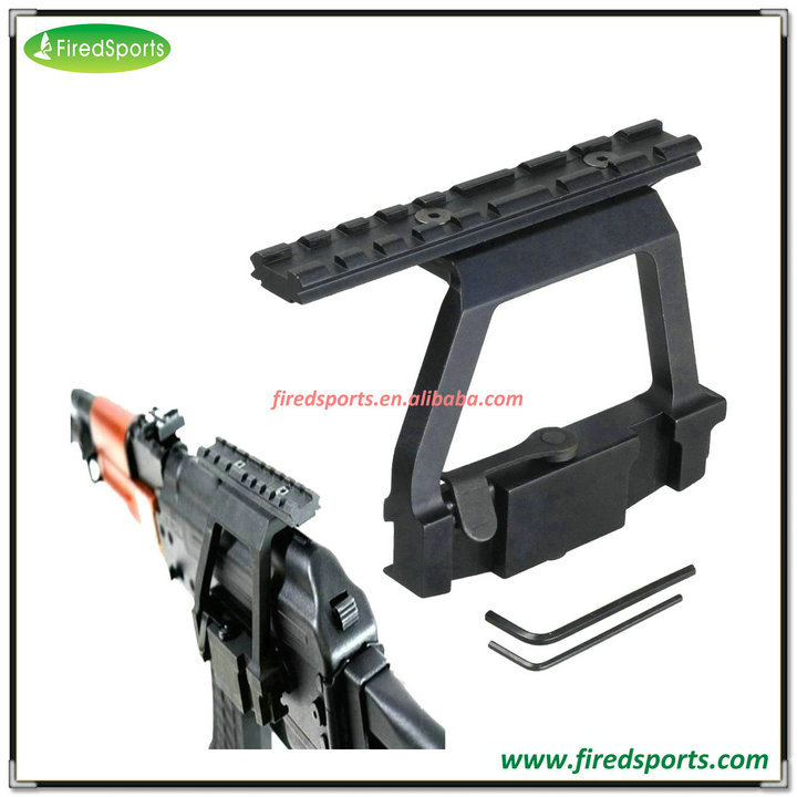 MTS2008--Hot Sell High Quality AK 74 picatinny Side Rail laser scope mount keymod handguard