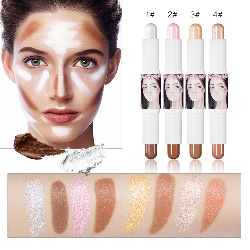 1 Piece Professional Double-end Concealer Stick Makeup Face-shaping Highlight Bar Facial Maquiagem Foundation 3D Pen
