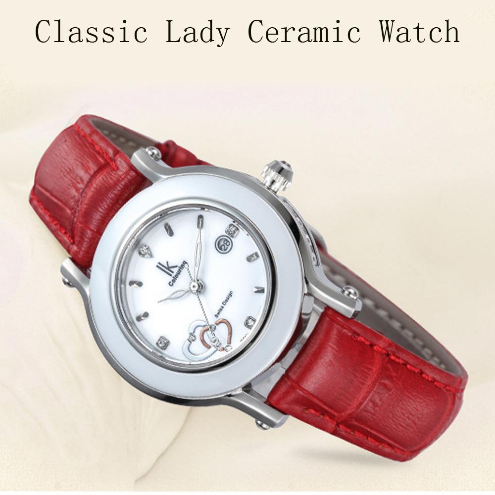 648a368e4a8d Directo de fábrica reloj IK cerámica mujeres reloj de mujeres de la marca  de lujo relojes