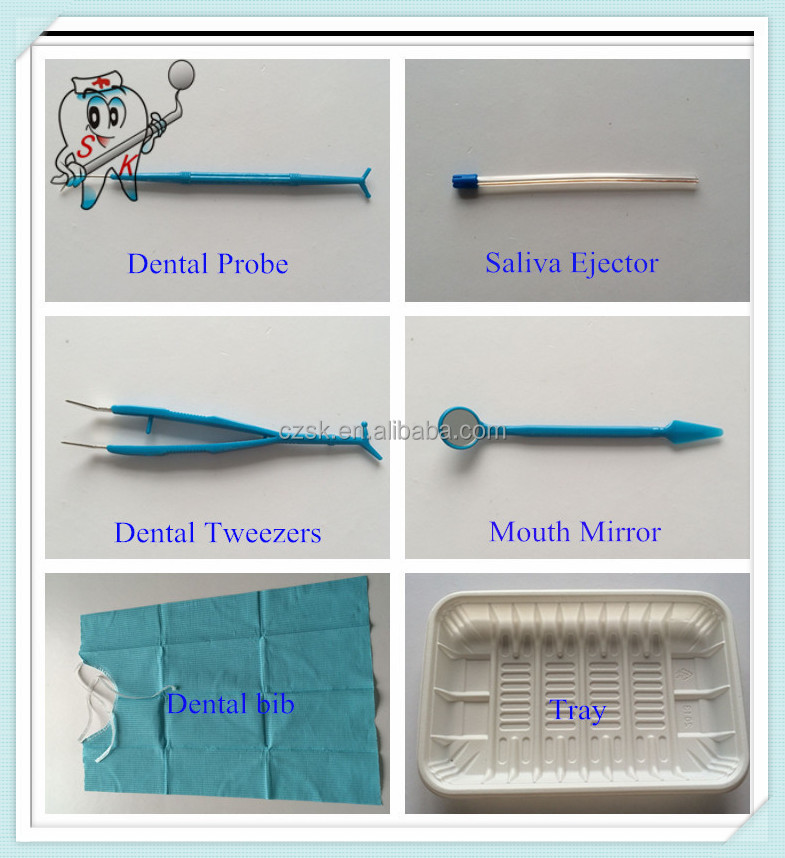 disposable surgical set dental kit 6 in 1