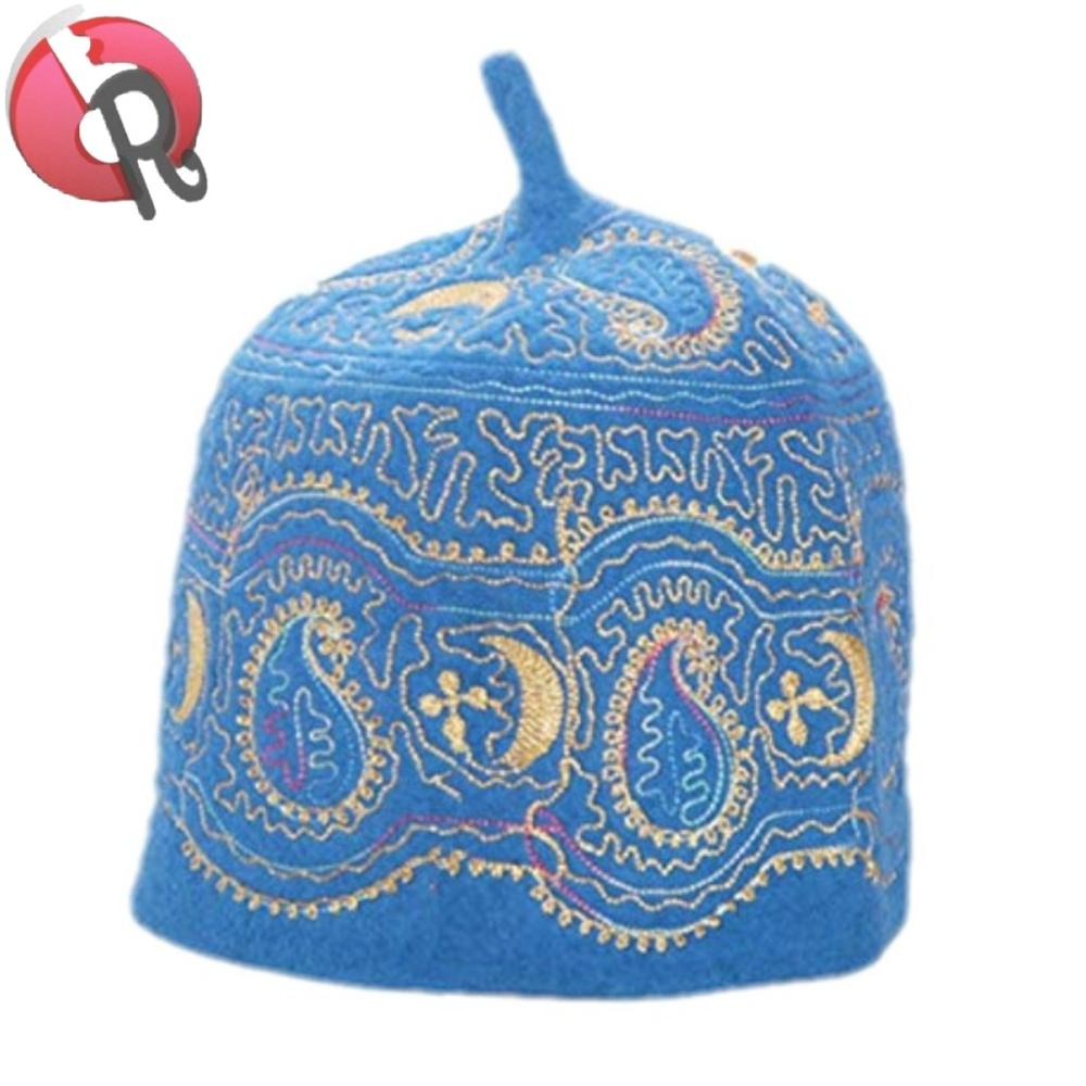 Novelty & Special Use Imported From Abroad White Linen Kippah Caps With Light Pink Embroidery Logo Elegant And Sturdy Package
