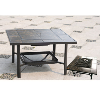 Alibaba Trade Urance Garden Treasures Square Coffee Table Outdoor Fire Pit Product On