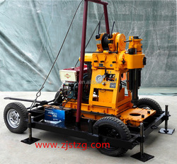 chinese rotary mini car tricycle carrier water well drilling rig machine