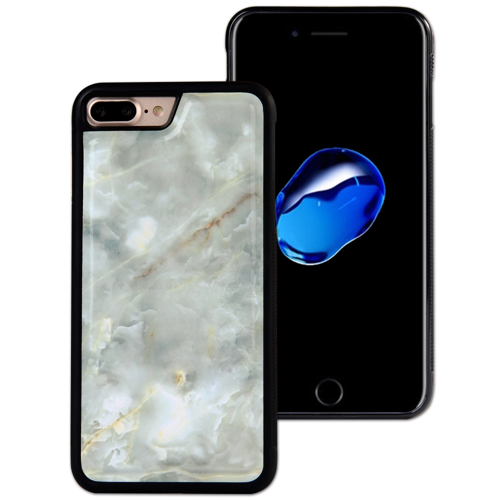 Cell Phone Marble PU Leather Protector Case for iPhone 7 Plus