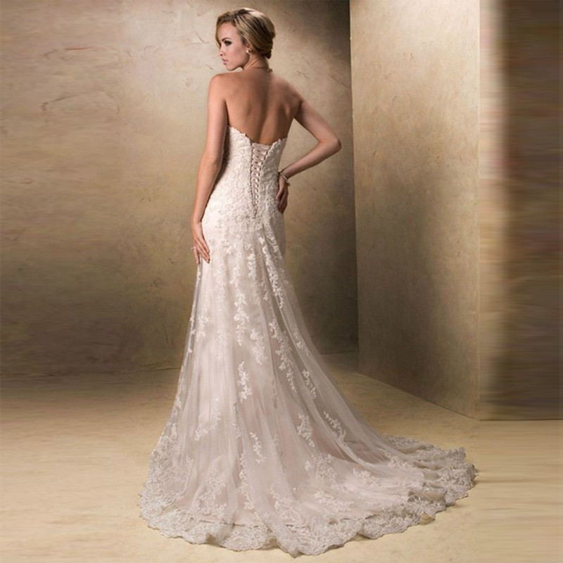 K1693a Customized Top Quality Long Fishtail Wedding Dresses Bridal ...