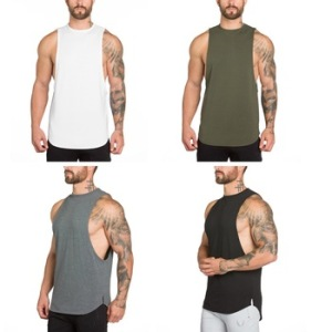 Custom wholesale mens sportswear sleeveless fitness tank top