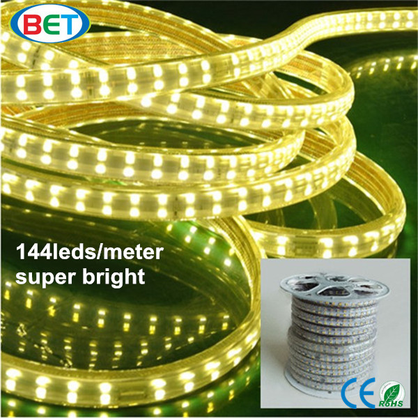 Dual row led strip SMD5050 CE RoHS 144leds/m 120v 240v sales agents wanted worldwide