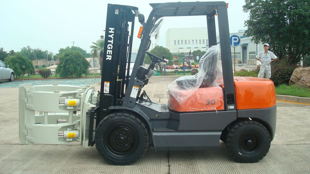 Clamp Forklift Controls : Ton automatic transmission diesel forklift paper roll