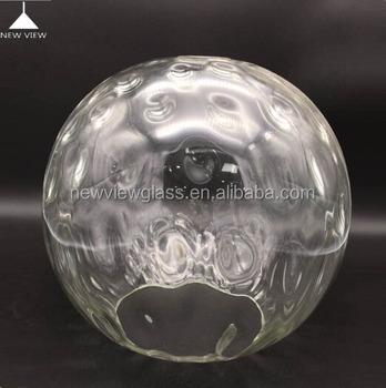 2016 Hot Sale Fluted Globe Glass Ball Pendant Light/blown Clear ...