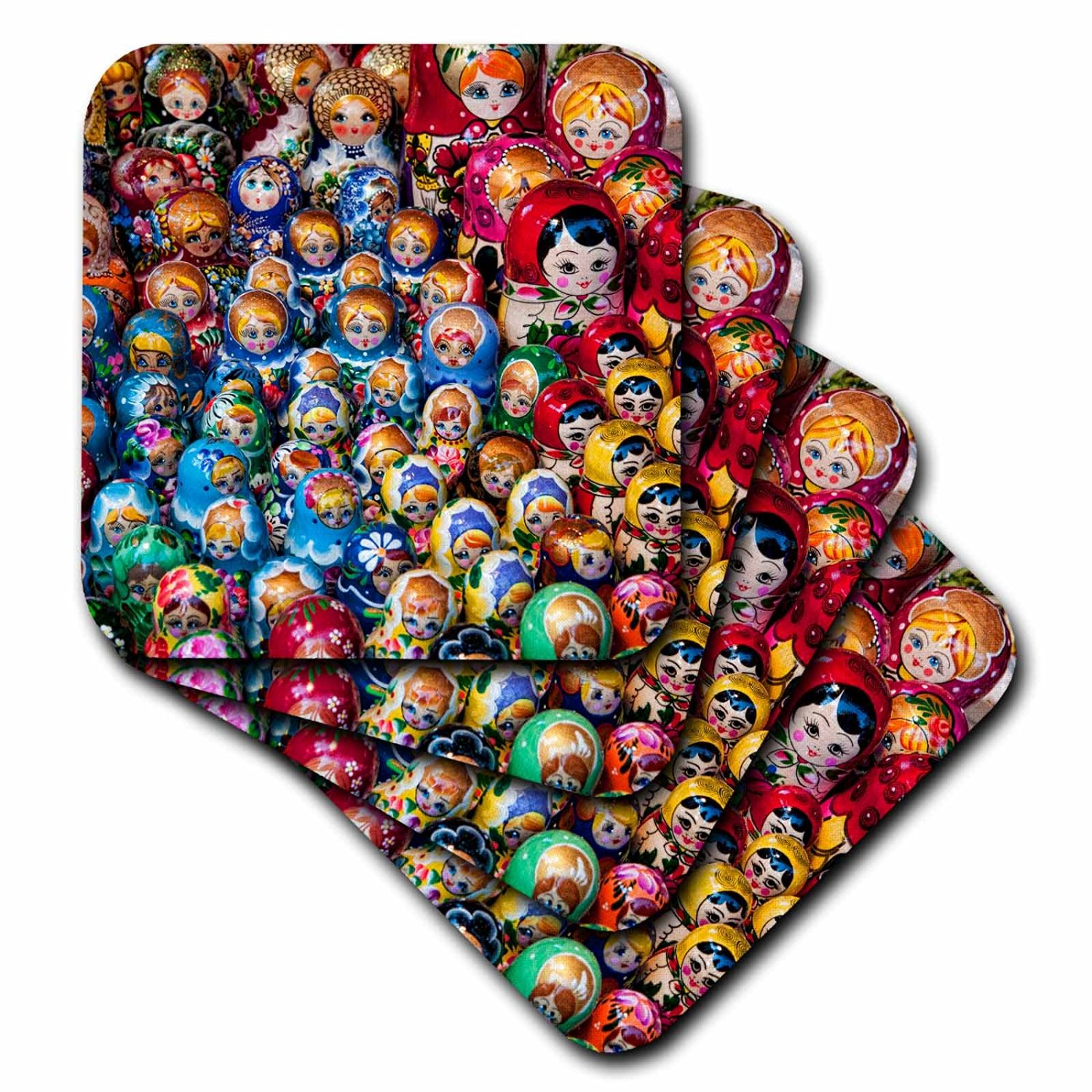 Danita Delimont - Traditional Crafts - Russian dolls, Crafts, Old Town, Warsaw, Poland - EU22 BBA0055 - Bill Bachmann - set of 8 Coasters - Soft (cst_82459_2)