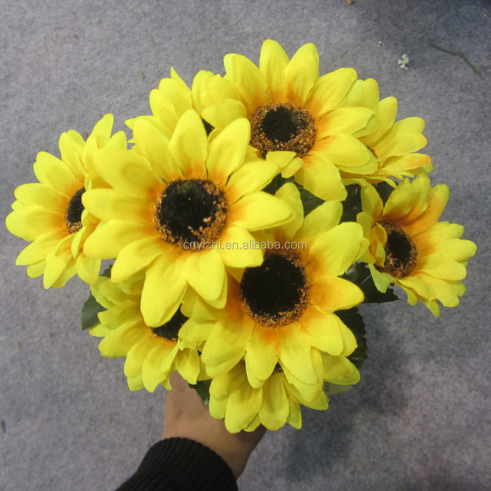 Mini artificial flower daisy bouquet wholesale sun flowers bunch mini artificial flower daisy bouquet wholesale sun flowers bunch fake yellow flowers for decor mightylinksfo