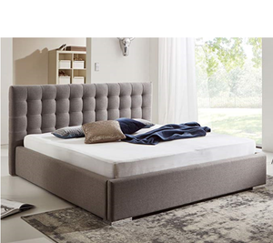 Italian hot sale modern luxury leather bed with storage