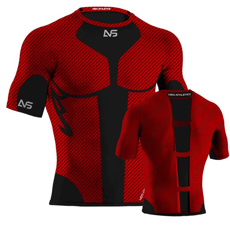 Custom made sports functional compression wear breathable for Compressed promotional t shirts