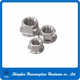 China factory supply stainless steel hex flange nut m25 m32 m38 hex nut