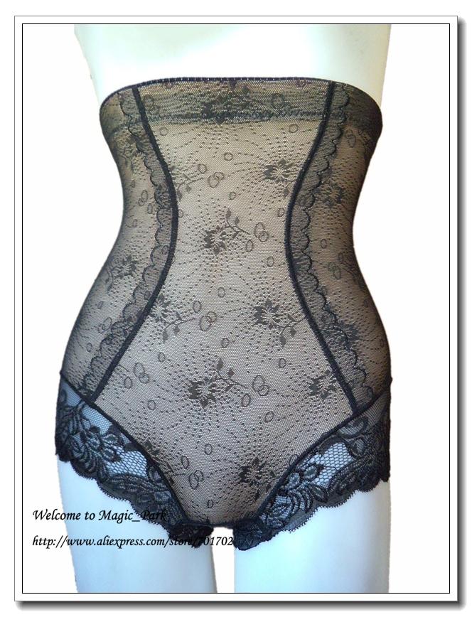 09026264fc Get Quotations · Asian Sz New Mesh High Waist Shapewear Sexy Lace Magic  Body shaper Waist Shaper waist Tummy