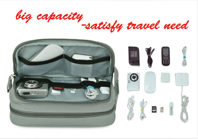 2015 new arrival travel gadget bag organizer travel Storage bag for Small Gadgets & Houshold organizer Necessairy