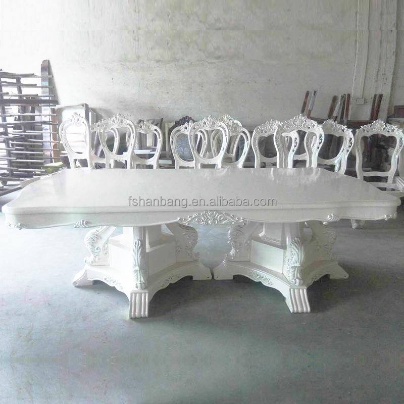 Blanc de luxe de style europ en fran ais 8 si ge salle for Chaise de salle a manger hemisphere sud