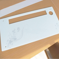 High Quality Silk Screen Printing Warm Air Blower Tempered Glass Panel