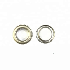quality good custom logo brass metal black round eyelets for curtains