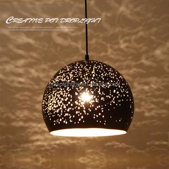 Zhongshan Manufacturer S Premium Cast Iron Pendant Lamp High Quality Spherical Globe Loft Droplight Mesh Light Fixtures