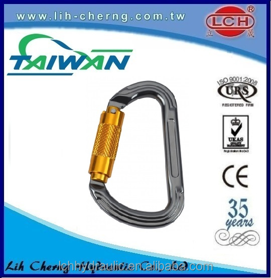 high quality aluminium oval black carabiner bulk
