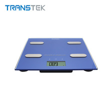 Glass body fat analysis scale with BIA technology
