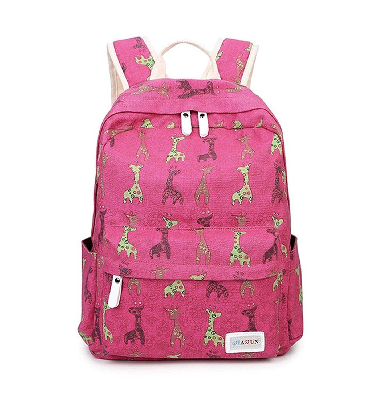 Fueken School Laptop Cute Backpacks for Teens Girls Back Packs Canvas  Bookbag 4383f2b86c