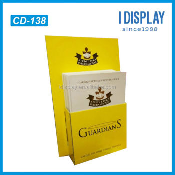 Template cardboard counter top pop display for magazine for Cardboard brochure holder template