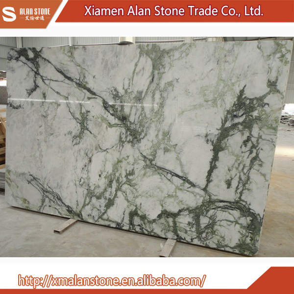 Wholesale China Factory White Marble With Green Veins