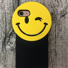 Shenzhen Factory OEM lovely smile face gel silicone cell phone case for iphone 7 7 plus cover