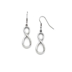 Hot Sale Stainless Steel New Design Earring Infinity Symbol Earring