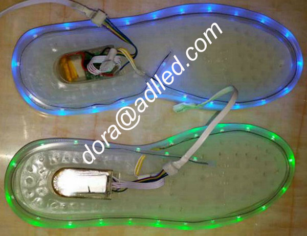 Battery Powered Led Strip Light Rgb Adult Shoes With Lights