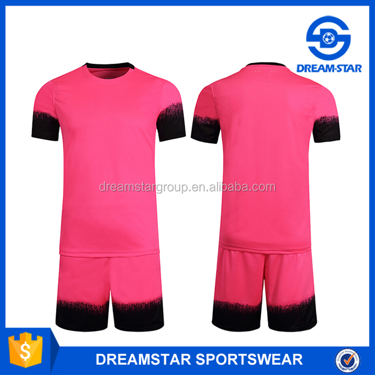 Factory Supply Blank Soccer Training Jersey For Pink