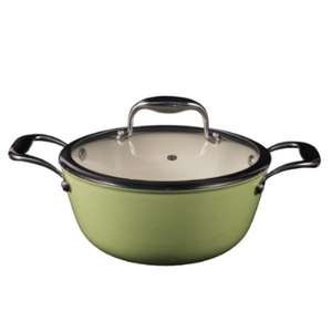 Light Weight Cast Iron Casserole Stew Pot with glass lid
