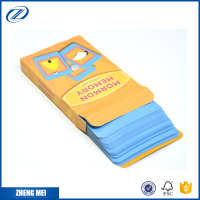 Flash cards wholesale custom game card printing