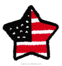 High quality Custom star logo embroidered patchs