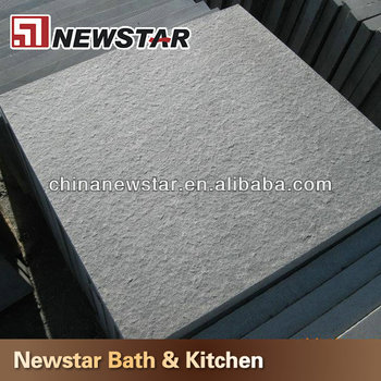 Shanxi Black Flamed Finish Granite Floor Tile Exterior