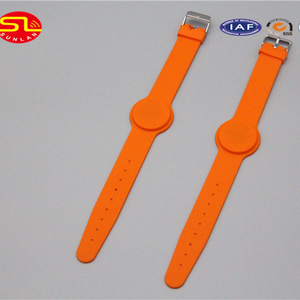 13.56MHz NFC RFID Blank Silicone adjustable Wristband