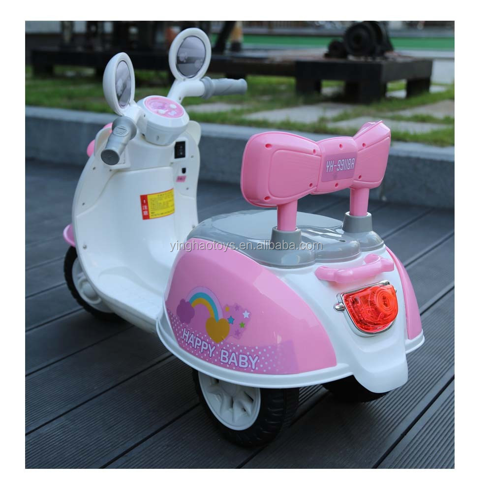 Baby Scooter Battery Operated Ride On Motorcycle Kids Electric Power Ride On Bike