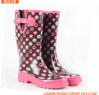 2016 Over knee good quality and cheap rubber boots,dress lady gumshoes RC22710