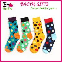 Men Fashion Funky Colorful Polka Dot Socks Wholesale Socks-men Dress Socks